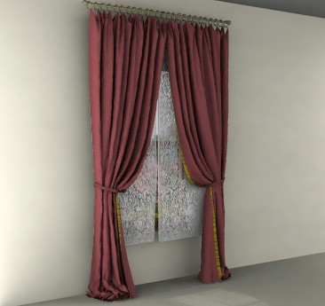 Beautiful virtual drapes