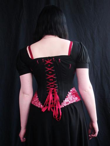 button corset 2 - back