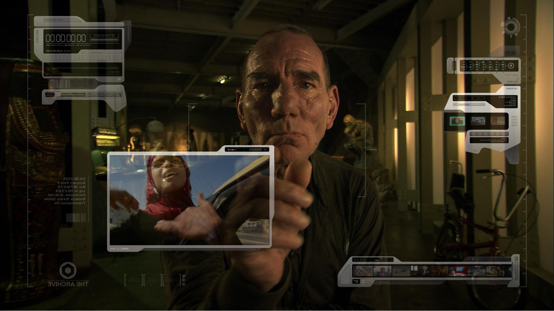 Pete Postlethwaite plays The Archivist in The Age of Stupid