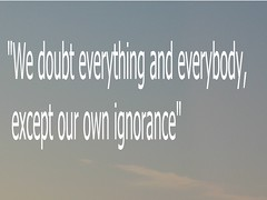 Our ignorance