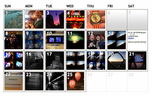 Flickr Upload Calendar