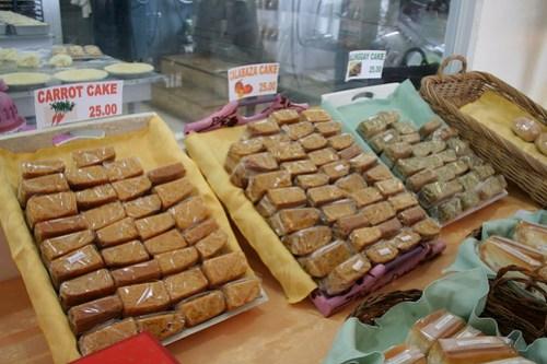 Carrot Cake, Calabaza cake, Malunggay Cake