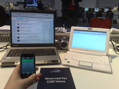 my workstation at the G20 summit
