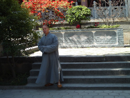 This monk totally watched me fall.