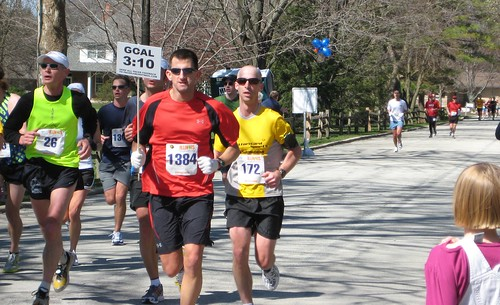 Rob 21 miles into marathon