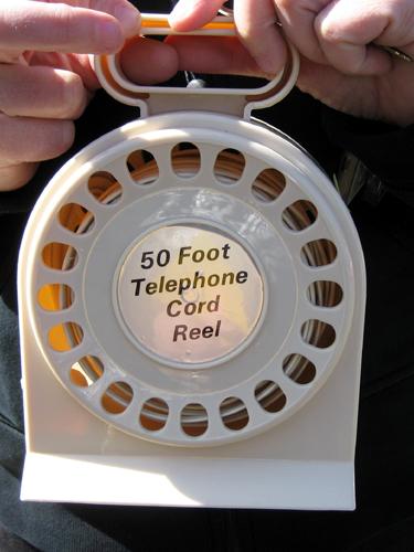 50 Foot Telephone Cord Reel