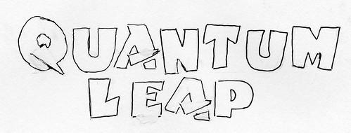 Quantum Leap lettering