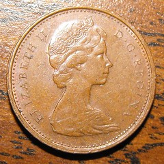 1974 Canadian Penny (Obverse)