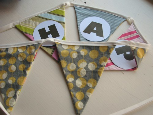Stripey Birthday Bunting