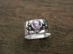 pink cz ring