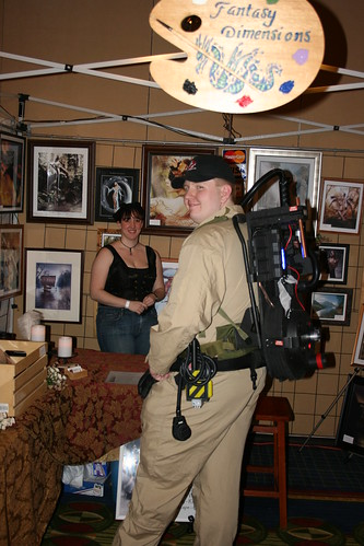 Ghostbusters provided security, and enjoyed a little shopping as well.