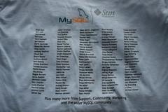 MySQL 5.1 Release T-shirt (Back)