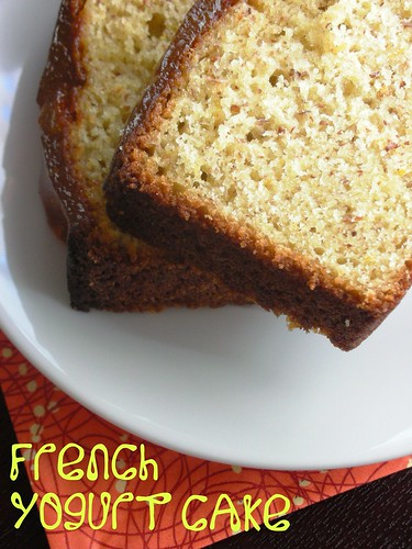 French yogurt cake with marmalade glaze