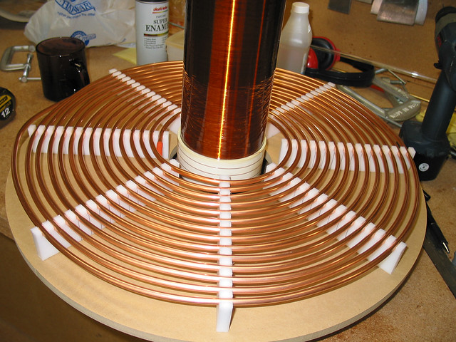 Primary coil close-up