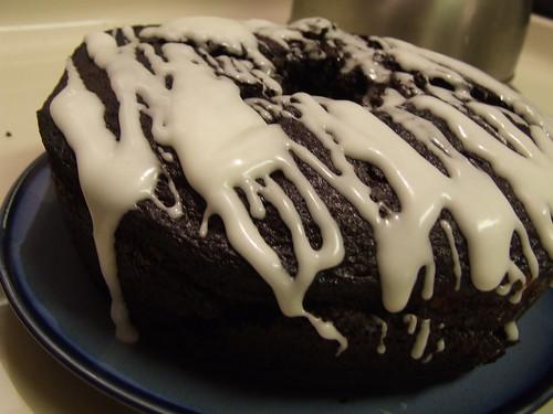 Double dark chocolate bundt cake