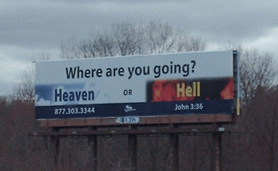 Heaven or Hell Billboard