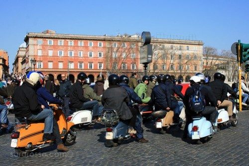 Tour Rome on a Vespa - Waiting for the light