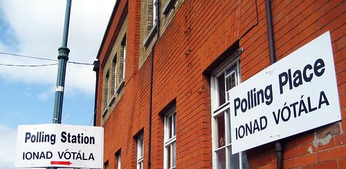 Polling Station/Ionad vótála in Dublin