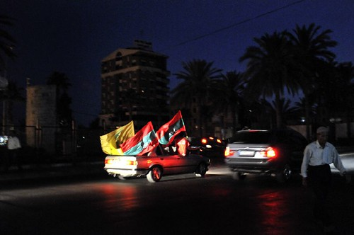 partisans de Oussama Saad, deputé à Saïda jusquau 7 juin 2009
