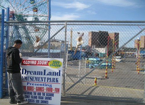On April 5, the Opening Day for Coney Islands Cyclone, Wonder Wheel and Other Rides and Attractions, Thor s Dreamland was nothing more than a Coming Soon sign