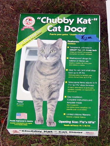 """""""Chubby Kat"""" Cat Door"""