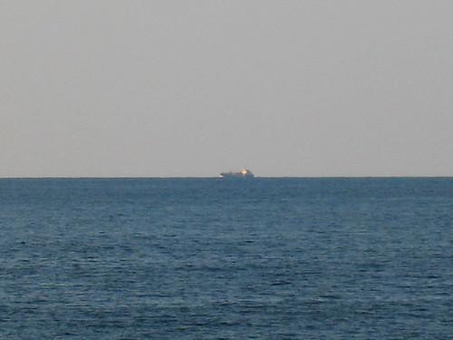 Merchant vessel off the coast
