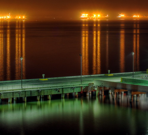 Port of Long Beach at night by kevin dooley, on Flickr