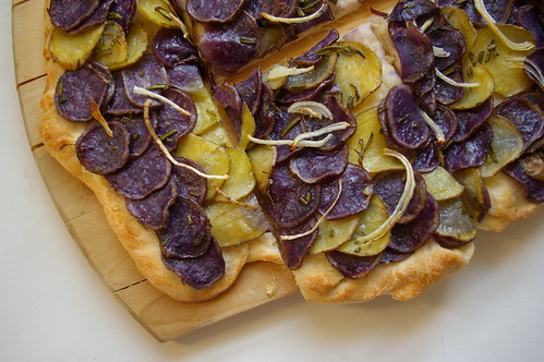Potato Pizza with Rosemary I