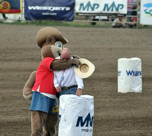 Skippy giving a birthday hug