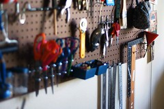 Hung up on Peg Boards - detail