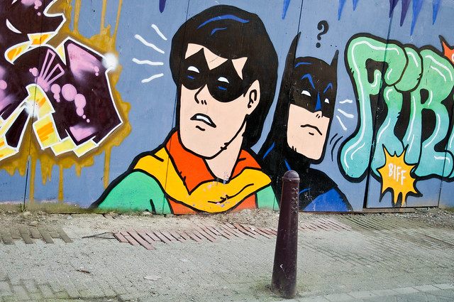 Batman and Robin graffitti