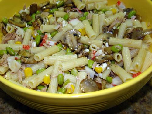 Salada de Soja,Cogumelos e Feta