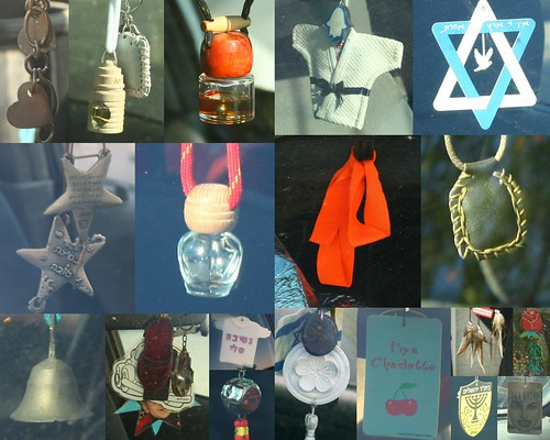What do Israelis hang in their cars?