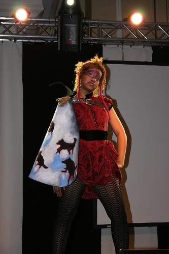 This Little Red Riding Hood doesnt look like shes scared of any wolves!