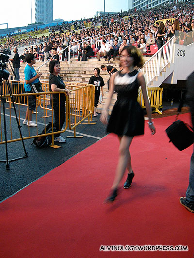Olivia Ong on the red carpet