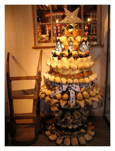 Christmas tree made from wooden clogs by you.