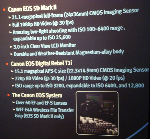 Canon DSLR Specifications