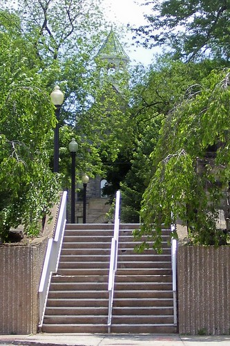 Stairs Leading Up to Campus
