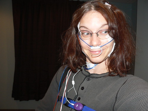 Sleep Study - Me Wired Up!