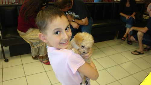 Talia's new puppy