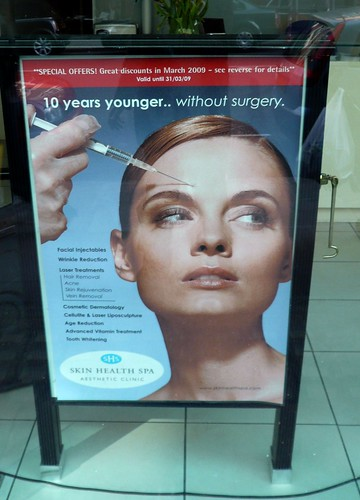 We are specialists in stabbing women in the face with needles advertisement, London, UK.JPG
