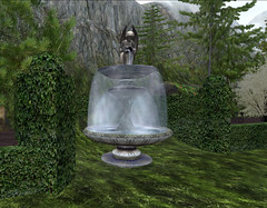The fountain at Bord du Lac
