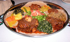 Shot of Huge Platter at Ethiopian Diamond
