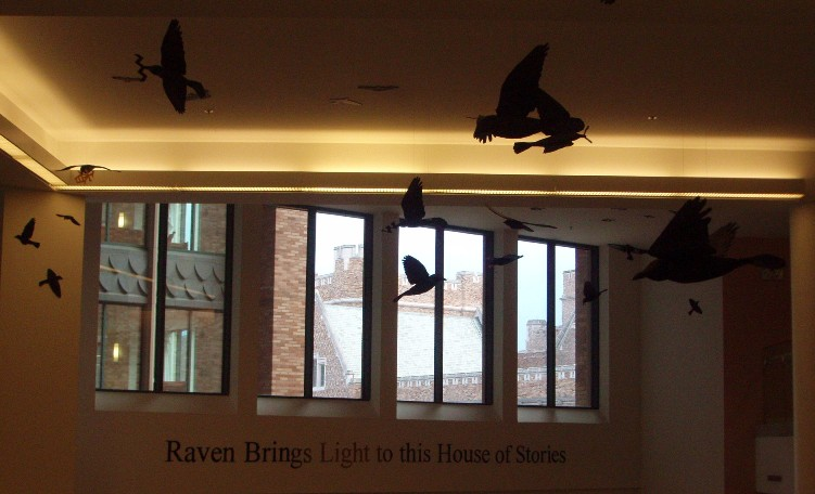 UWs Allen Library: Raven Brings Light to this House of Stories