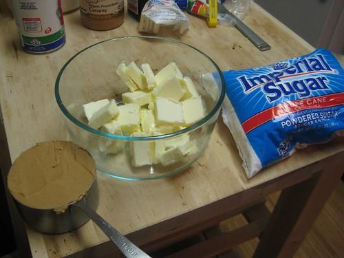 PB fudge ingredients