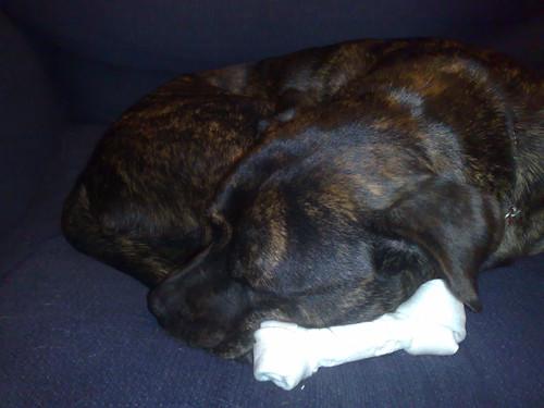 Asleep on her hoard