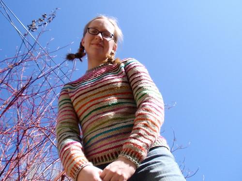 stripes! and blue sky