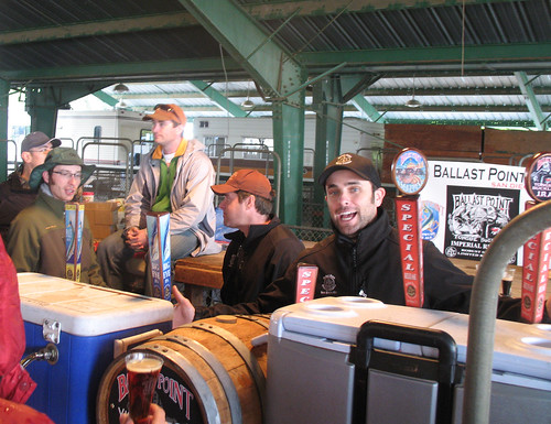 Ballast Point with their firkin