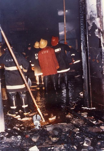 Firemen in the mansion on March 18, 1974