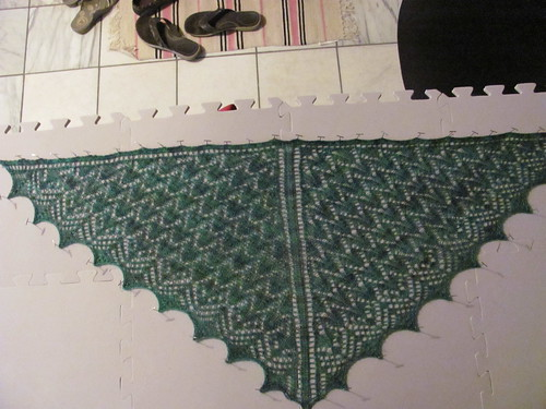 shawl blocking